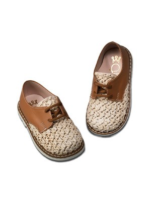 Loafer Από Δέρμα Και Ύφασμα Κωδ:2135T